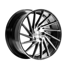 1AV ZX1  18x8.0 ET42 BLACK POLISHED