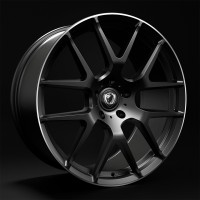 CADES COMANA 22x9.5 5x120 ET20/ET35/ET40 BLACK POLISHED