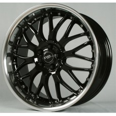EVO-RACING S038 17x7.5 5x100 ET35 Black Polished Lip