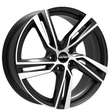 ARCAN 19x8.0 5x108 ET45 GLOSS BLACK POLISHED FACE
