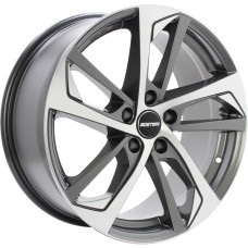 GMP KATANA 20x9.0 5x112 66.6 GUNMETAL POLISHED