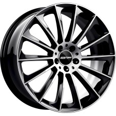 STELLAR 18x8.0 5x112 ET45 Black Polished