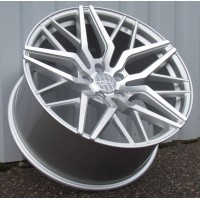 HAXER 20x10.0 5x112 ET38 66.6 SILVER POLISHED