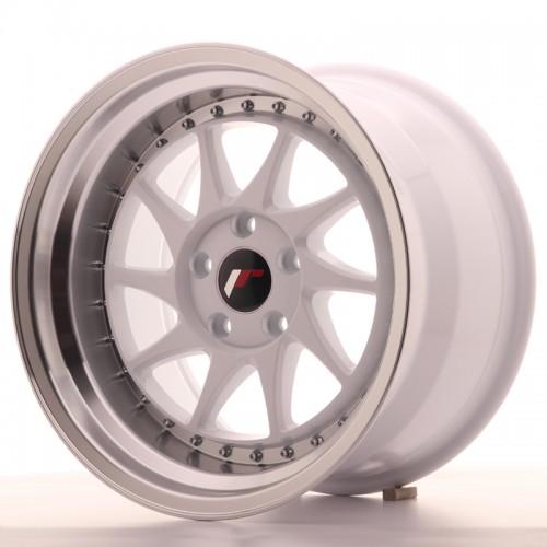 japan racing jr26 16x9 0 4x100 4x108 et20 white polished. Black Bedroom Furniture Sets. Home Design Ideas