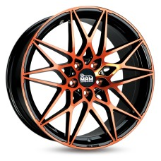 MAM B2 19x8.5 5x112 ET30/ET45 BLACK ORANGE