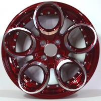 KVA040  17x7.5 4x100 ET55 Candy Red Polished Face