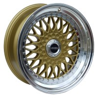 LENSO BSX 16x7.5 ET35 GOLD POLISHED