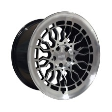 RADI8 R8-A10 18x8.5 ET40 18x9.5 ET42 5x112 66.6 BLACK POLISHED