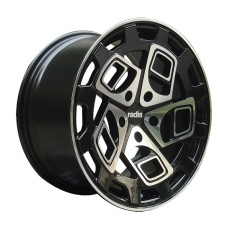 RADI8 R8-CM9 18x8.5 ET40 18x9.5 ET42 5x112  BLACK POLISHED
