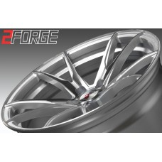 2FORGE ZF2 20x8.5 20x9.0 20x9.5 20x10.0 20x10.5 20x11.0 20x12.0 SILVER POLISHED FACE
