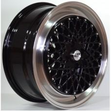 GTP041 17x7.0 4x100 ET35 BLACK POLISHED LIP