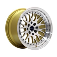 UL10-1580-1GLMF / ULTRALITE WHEELS 15x8 ET10 - 4x100+114.3 PCD - GOLD MACHINED FACE